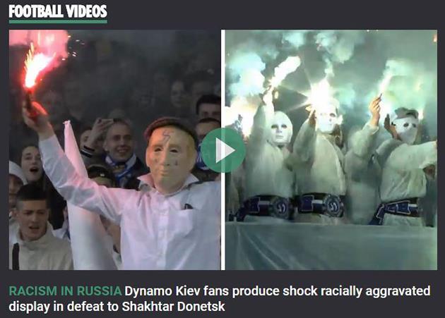 The Sun привязало акцию фанатов киевского Динамо красизму в РФ