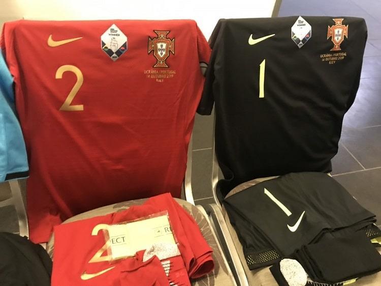 Форма Португалии на матч с Украиной, УАФ