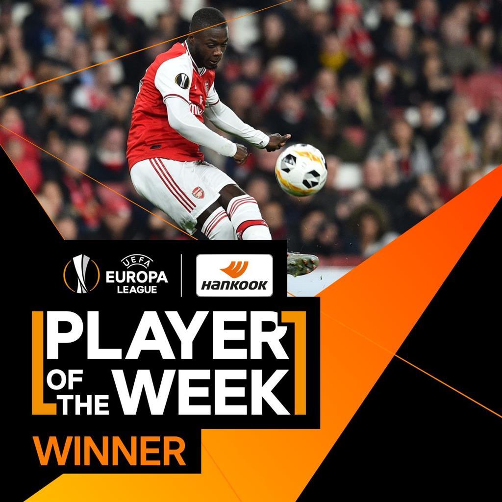 Николя Пепе — игрок недели в Лиге Европы