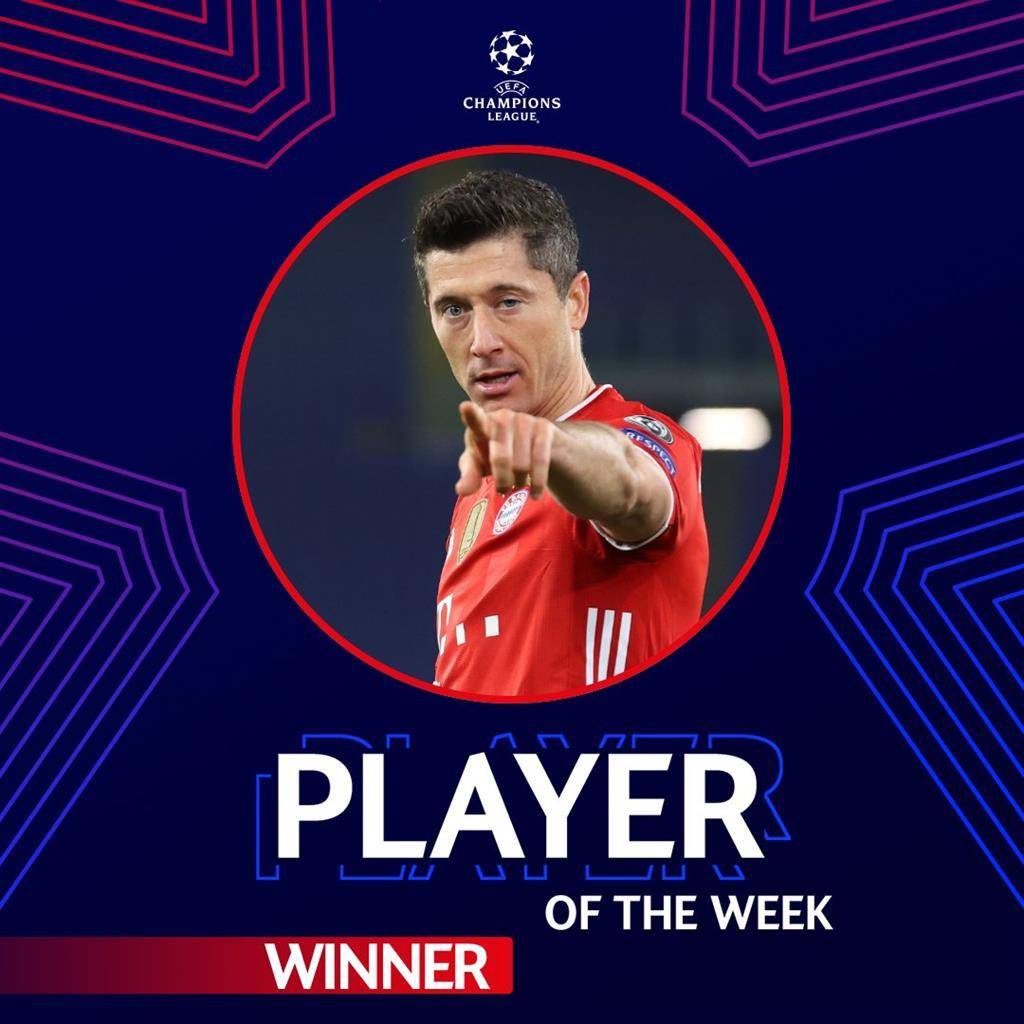 Левандовски — лучший игрок недели в Лиге чемпионов