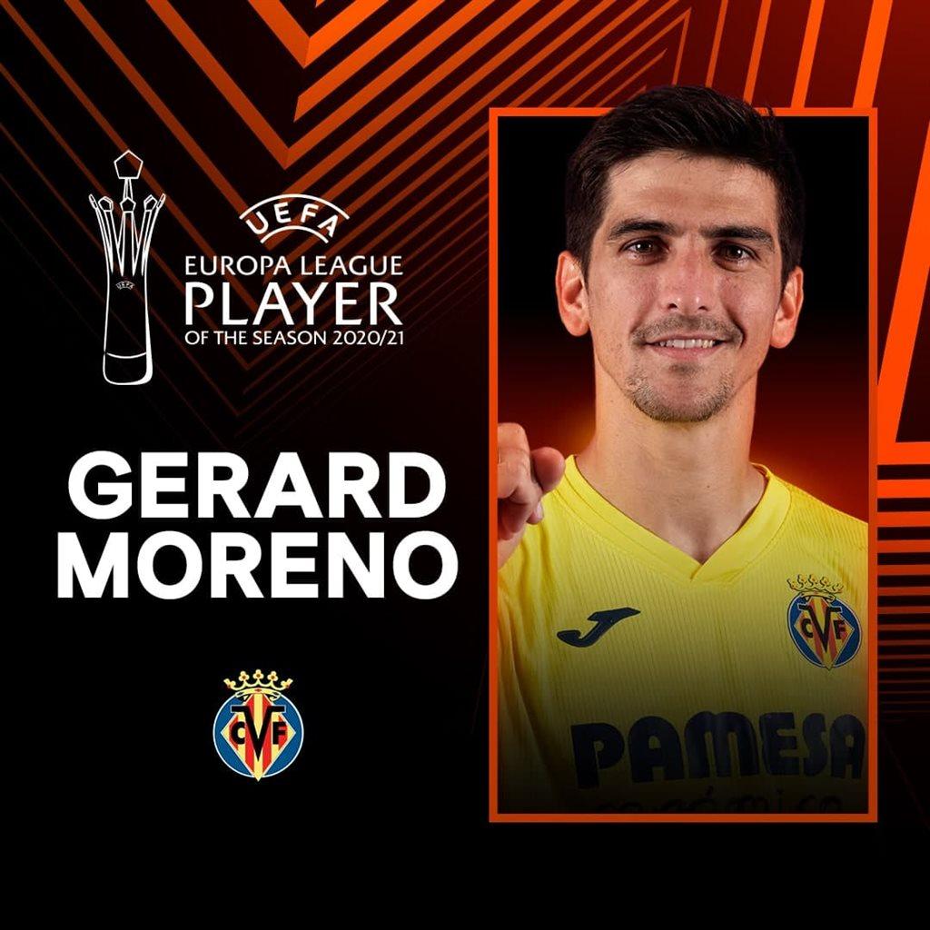 Жерар Морено — лучший футболист Лиги Европы в сезоне-2020/21