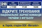 Сборная Украины: планы сбора и открытая тренировка в Харькове
