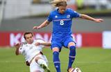 Исландия и Латвия провели хороший матч, getty images