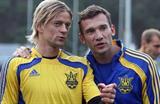 Анатолий Тимощук (слева) и Андрей Шевченко, football.sport.ua