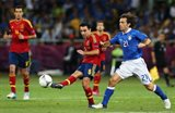 Хави против Пирло в финале Евро-2012 в Киеве, Getty Images