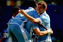 Игроки Лацио радуются шестому голу в ворота Сампдории, Getty Images
