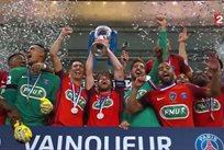 ПСЖ выиграл Кубок Франции, фото - кадр из транслиции