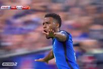 Тома Лемар празднует гол в ворота Нидерландов