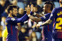 Арнаис открыл счет в матче, twitter.com/FCBarcelona