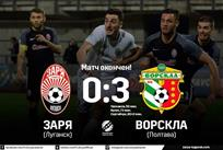 Заря — Ворскла 0:3 Видео голов и обзор матча