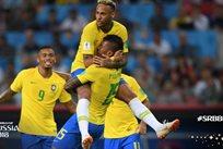 Паулиньо открыл счет в матче Сербия — Бразилия