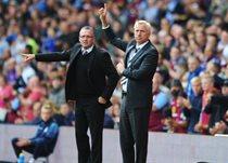 Пол Ламберт и Алан Пардью во время вчерашнего матча, Getty Images