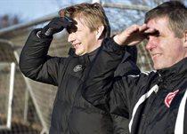 Спортивный директор Ольборга Аллан Гаарде и наставник Кент Нильсен смотрят в светлое будущее? Фото bt.dk