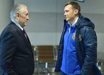 Бывший и нынешний главные тренеры сборной Украины, фото sport.obozrevatel.com