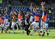 Сампдория отмечает победу над Миланом, Gettyimages