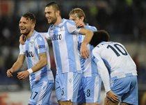 Радость игроков Лацио в матче против Стяуа, Gettyimages