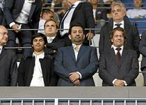Президент Малаги Нассер Аль-Тани (в центре)