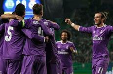 Реал празднует первое взятие ворот в матче, twitter.com/realmadrid