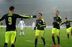 Лукас Перес забил три гола, arsenal.com