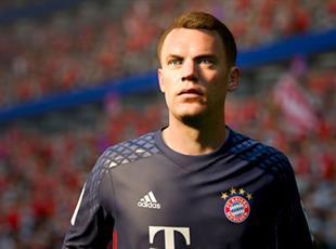 Мануэль Нойер в FIFA 17, bundesliga.com