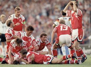 Дания - один из самых неожиданных триумфаторов Евро-1992, Getty Images