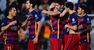 Барселона празднует третий гол, Getty Images