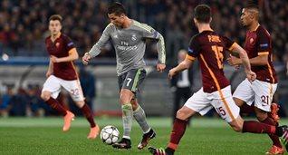 Роналду открыл счет в матче, getty images