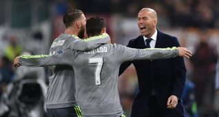 Роналду, Рамос и Зидан, eurosport.com