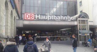 Место стычки фанатов - вокзал Мюнхена