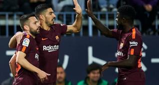 Барселона с легкостью разобралась с Малагой