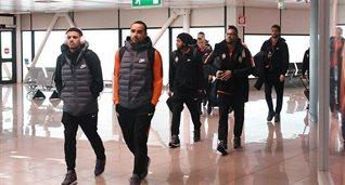 Игроки Шахтера по прилету в Рим, фото ФК Шахтер