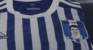 Изображение Хаби Прието заменит герб на футболках Реал Сосьедада