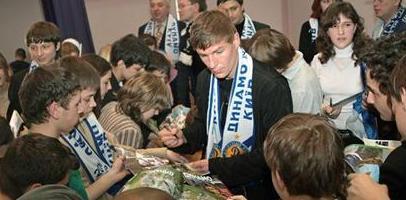 Максим Шацких - любимец публики, фото fcdynamo.kiev.ua