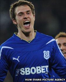 Рэмси забивает, фото BBC