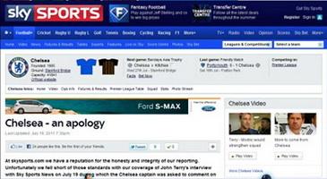 Sky Sports извиняется перед капитаном Челси