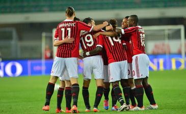 Милан празднует гол Мунтари, Getty Images