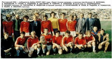 СКА - победитель Кубка СССР-1981