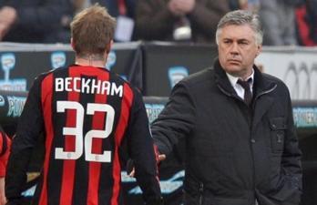 Бекхэм и Анчелотти, Presse-Sports