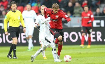 Кисслинг свой мяч забил, фото bayer04.de