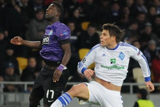 Огнен Вукоевич в матче против Порту, фото Football.ua