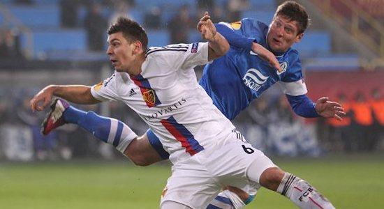 Евгений Селезнев в матче против Базеля, фото Football.ua