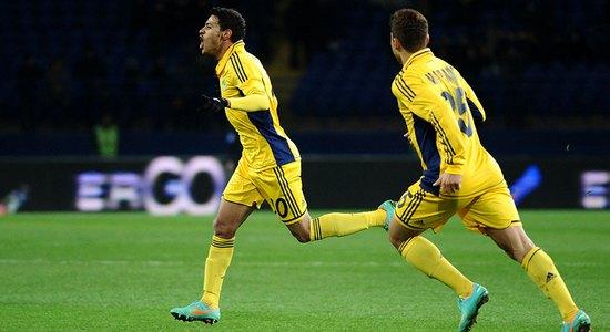 Клейтон Шавьер празднует гол, фото Дмитрия Неймырка, Football.ua