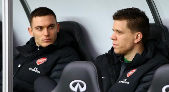 Вермален и Щесны на скамейке запасных во время матча против Суонси, Getty Images
