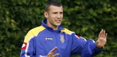 Капитан сборной Украины Андрей Шевченко