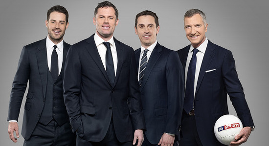 Каррагер с коллегами. Фото Sky Sports