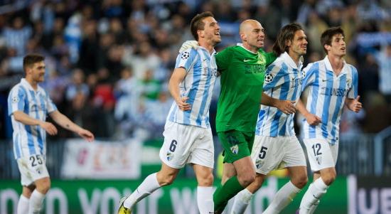 В этом году Малага дошла до четвертьфинала Лиги чемпионов. Getty Images
