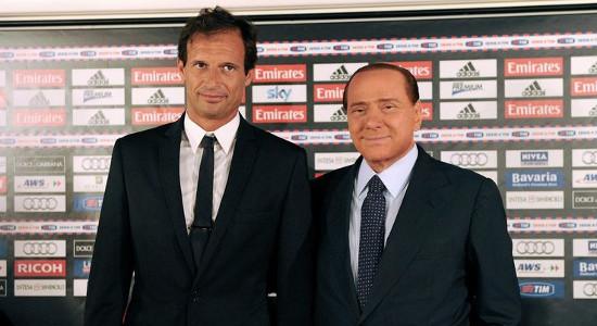 Массимиано Аллегри и Сильвио Берлускони, altervista.org