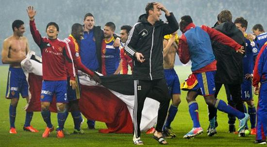 Базель празднует успех, фото goal.com