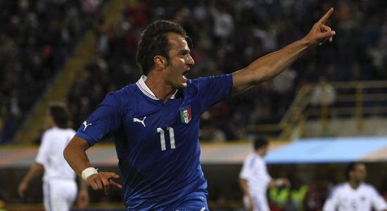 Альберто Джилардино отличился в товарищеском матче с Сан-Марино. Фото Getty Images