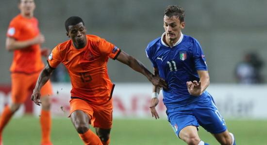Габбьядини против голландца Вейналдума на молодежном Евро-2013, Getty Images